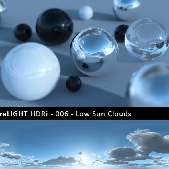PureLIGHT HDRi 006 - Low Sun Clouds