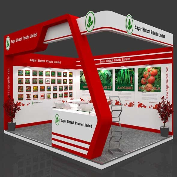 Exhibition Booth 3D Model - 4x3 mtr
