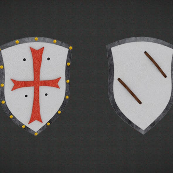 3D Knight Shield Game Assets