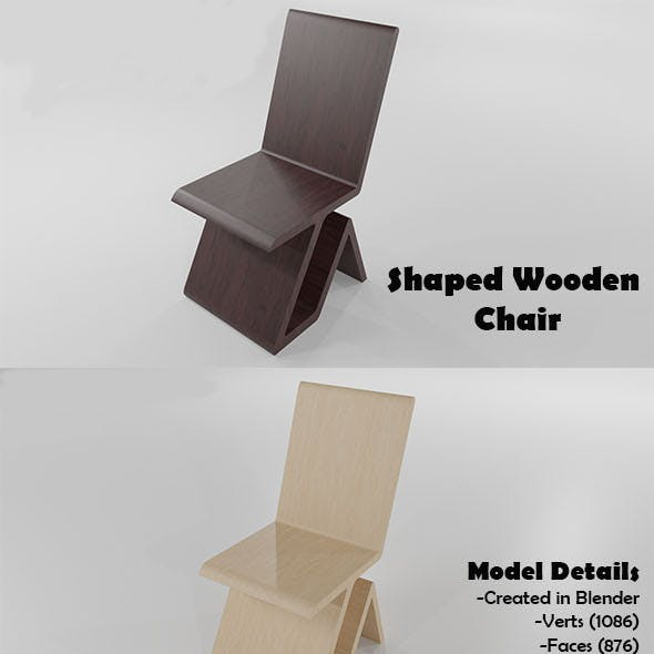 A simple Shaped Wooden  Chair