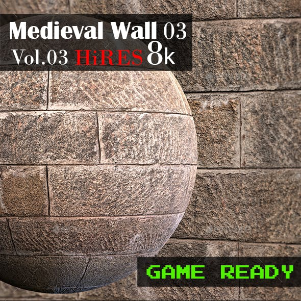 Medieval Wall 03