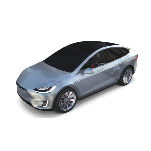 Tesla Model X with Chassis Silver