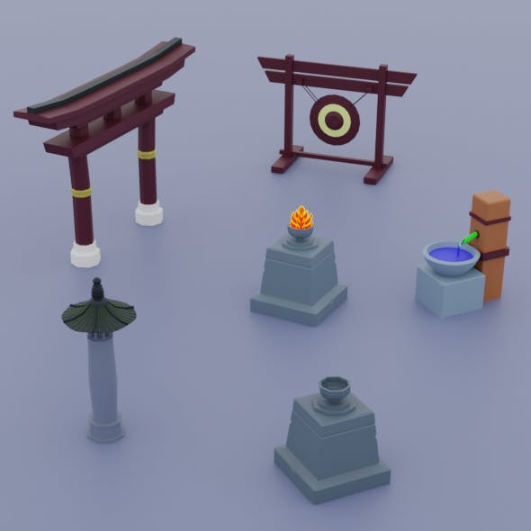 Things from ancient China Low - 3DOcean Item for Sale