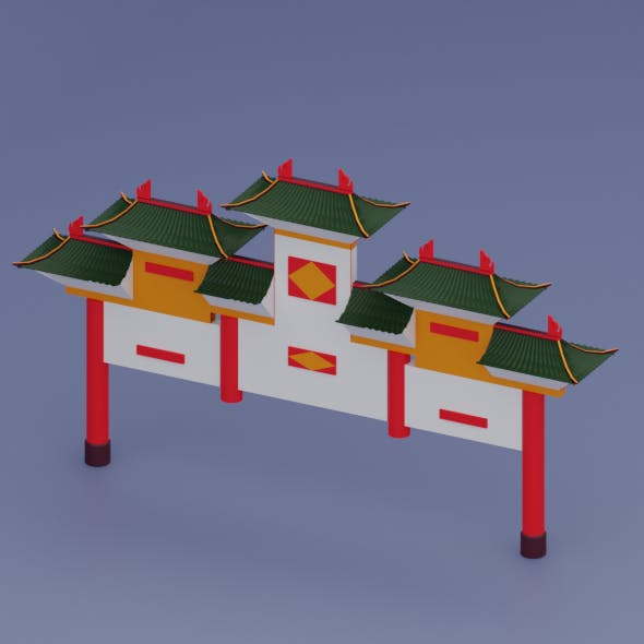 Ancient Chinese Entrance - 3DOcean Item for Sale