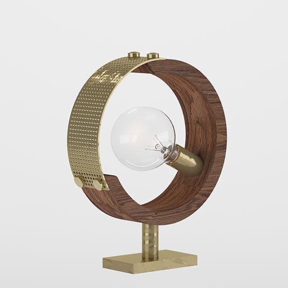 Lucea Manya Wooden Tumbled Table Lamp 3D model