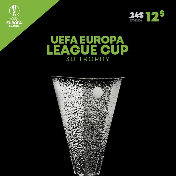 UEFA Europa League 3D Trophy
