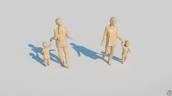Lowpoly Family 002 - 3DOcean Item for Sale