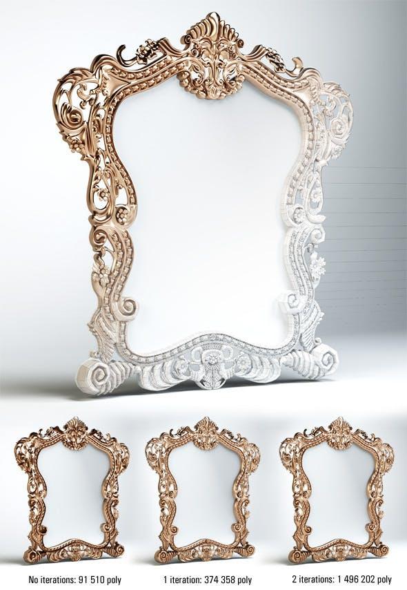 Quality 3dmodel of classic mirror klasik mobilya - 3DOcean Item for Sale