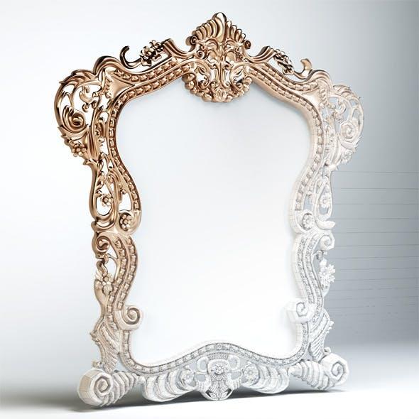 Quality 3dmodel of classic mirror klasik mobilya