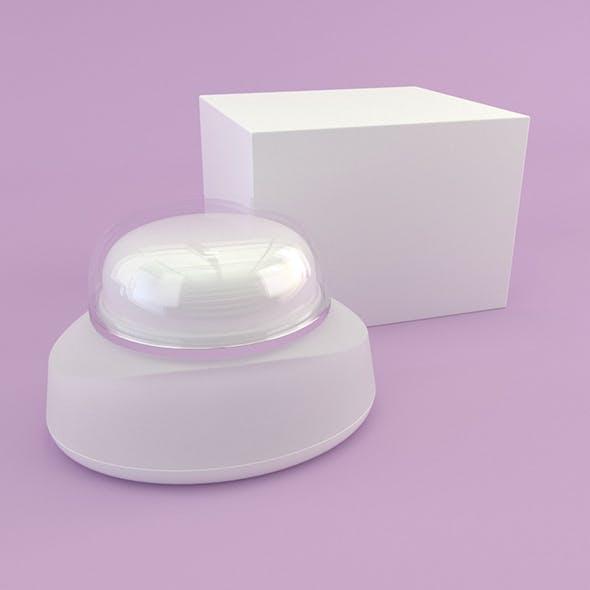 Cosmetics Bottle Cream with Box