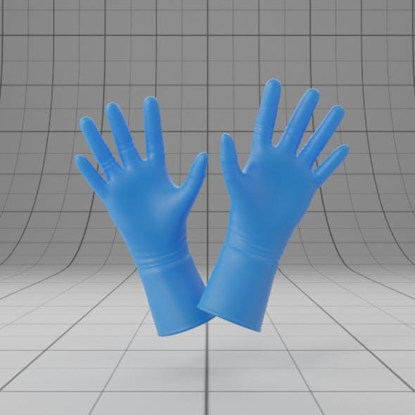 Blue Latex Gloves