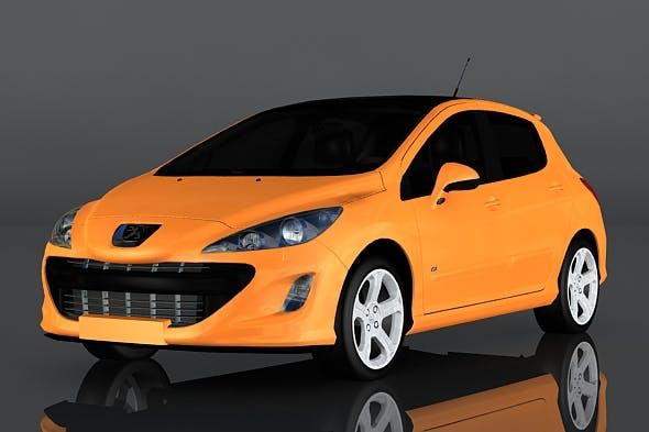 Peugeot 308 - 3DOcean Item for Sale