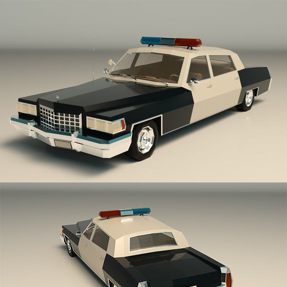 Low Poly Police Car 04