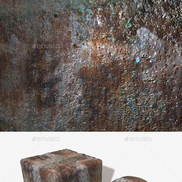 Painted Rusty Metal Seamless Texture