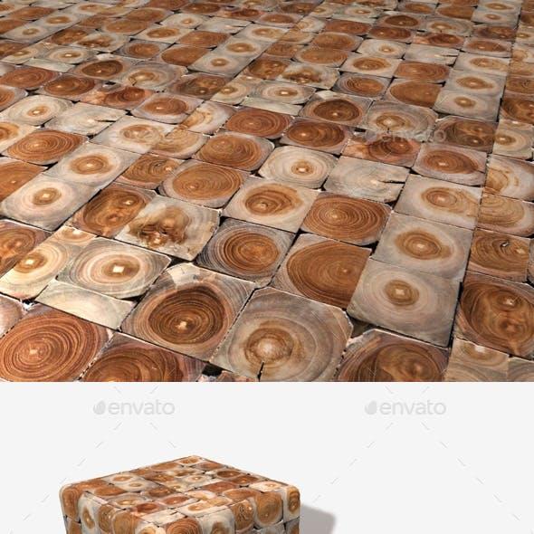 Wooden Tiled Blocks Seamless Texture