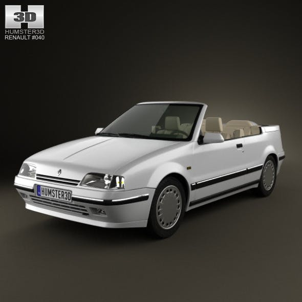 Renault 19 convertible 1988 - 3DOcean Item for Sale