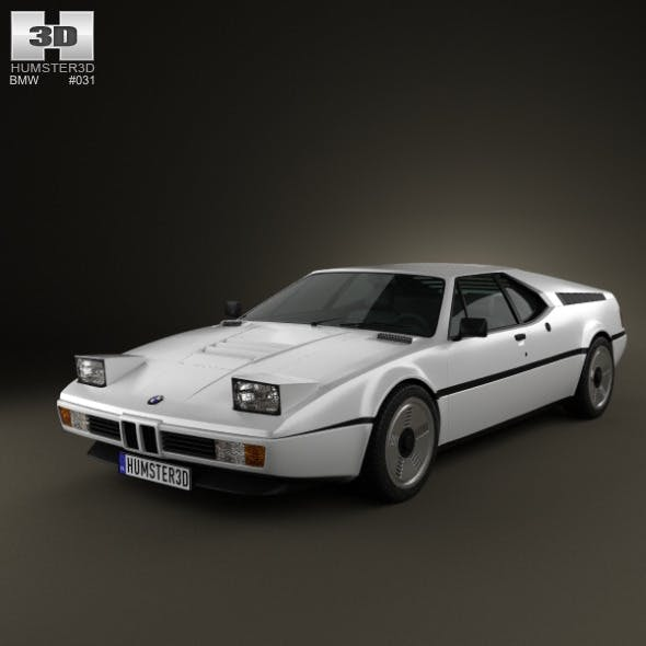 BMW M1 1978-1981 - 3DOcean Item for Sale