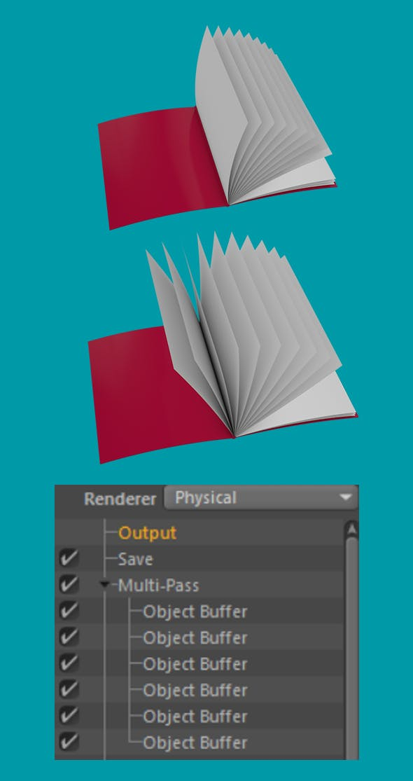 Animated 3D magazine or Folder - 3DOcean Item for Sale