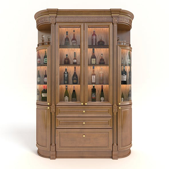 Liquor Cabinet Classic Style 2