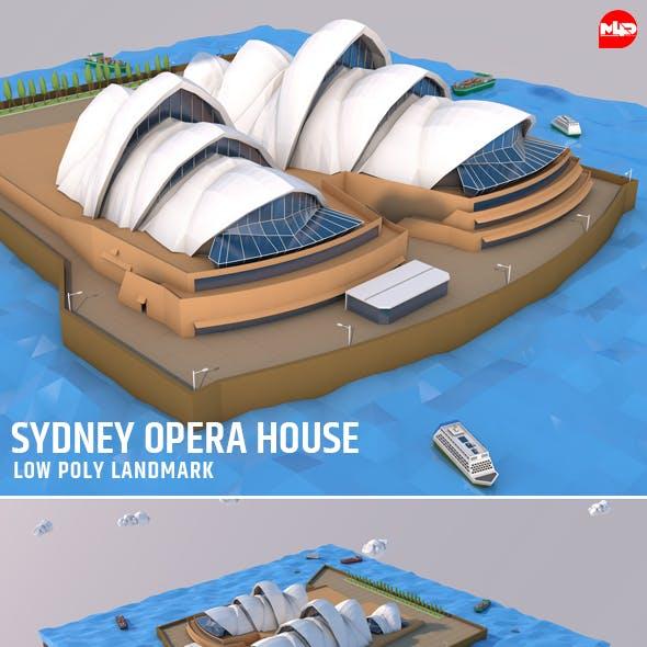 Low Poly Sydney Opera House Landmark