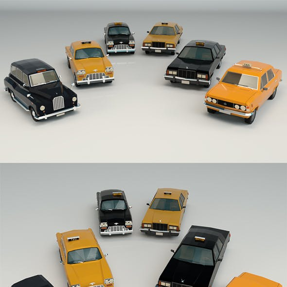 Low Poly Taxi Pack 01