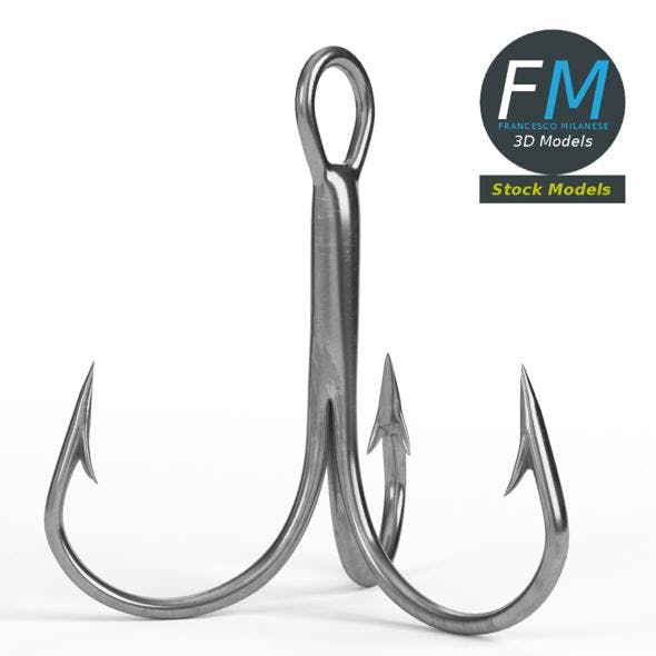 Treble hook - 3DOcean Item for Sale