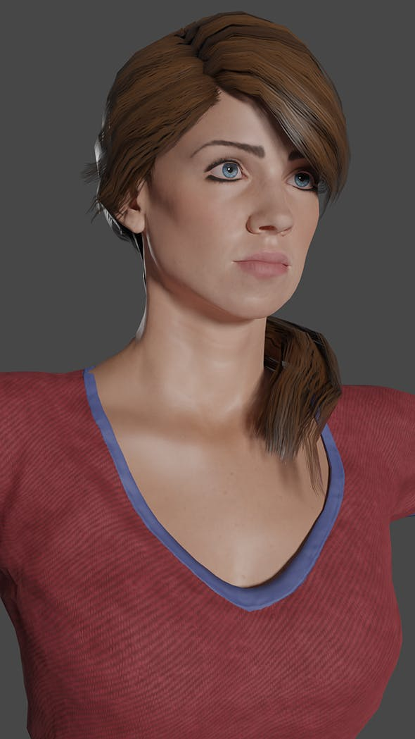 Woman  Penelope low poly Ready for games 3D Model - 3DOcean Item for Sale