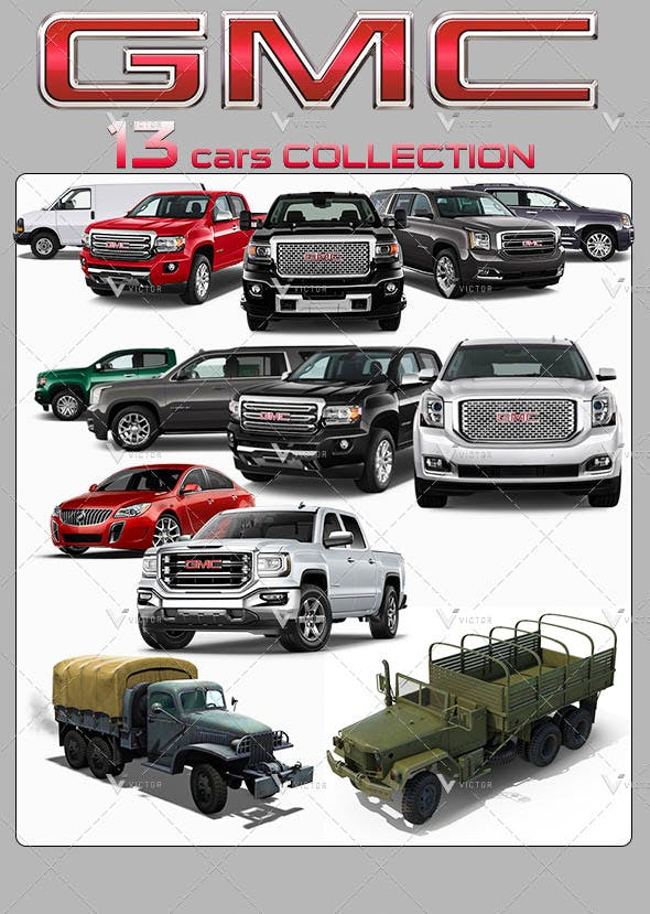 13 Gmc Cars Models Collection Pack By Vikibwire 3docean