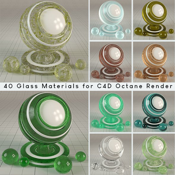 40 tileable Glass Materials for Cinema4d Octane Render