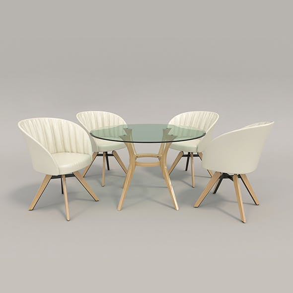 Contemporary Design Table and Chair Set