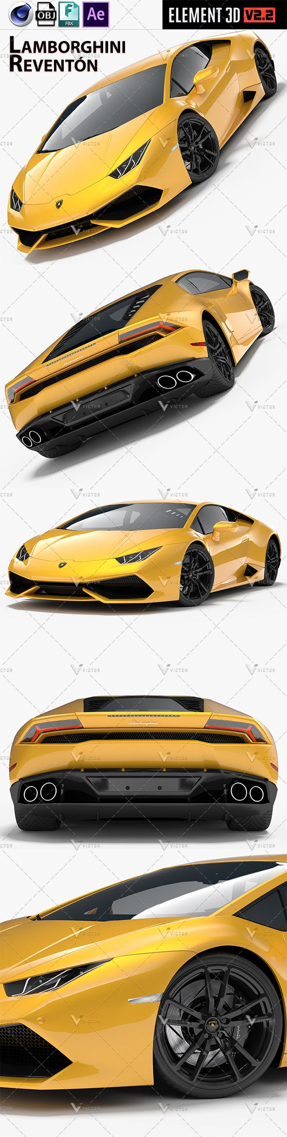 Lamborghini Reventón/ Reventon Element 3d V2 - 3DOcean Item for Sale