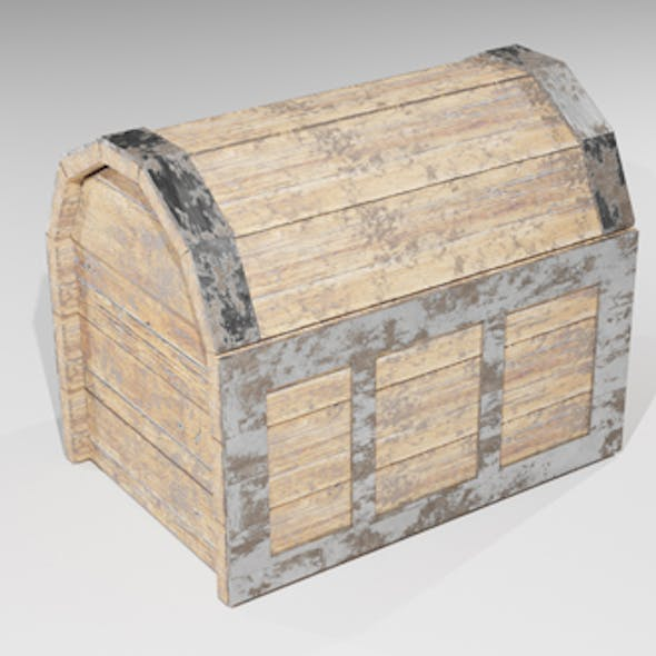 Old box Low-poly 3D model