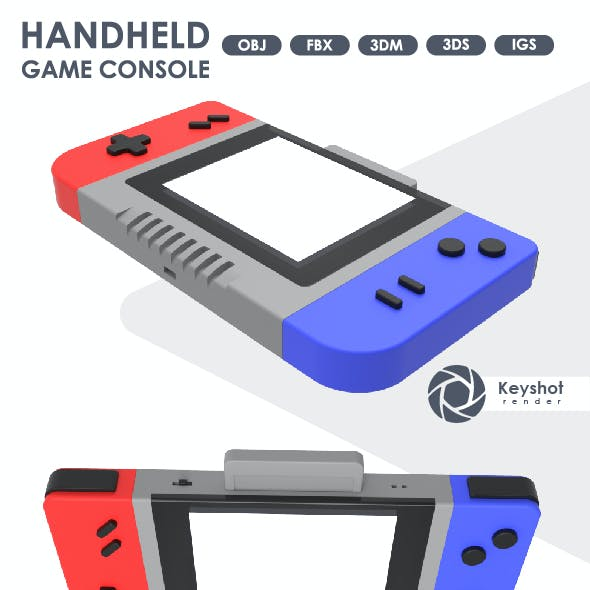 3D Model of a Handheld Game Console.
