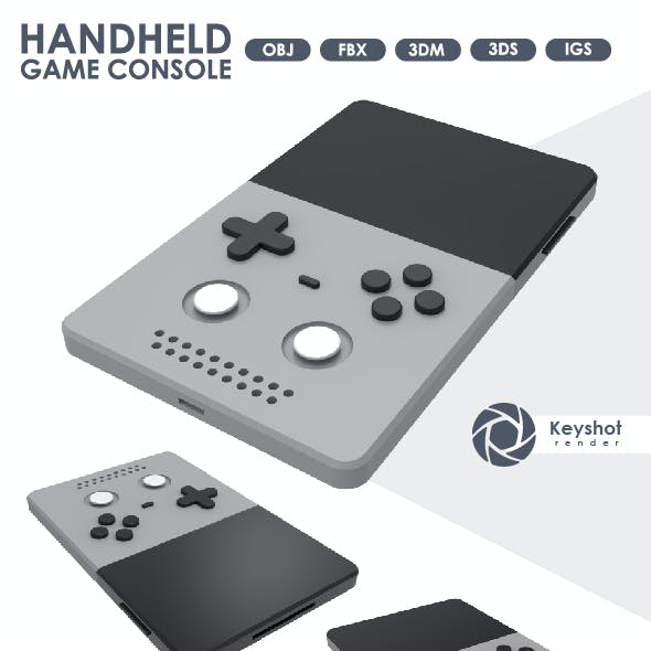 3D Model of a Handheld Console.