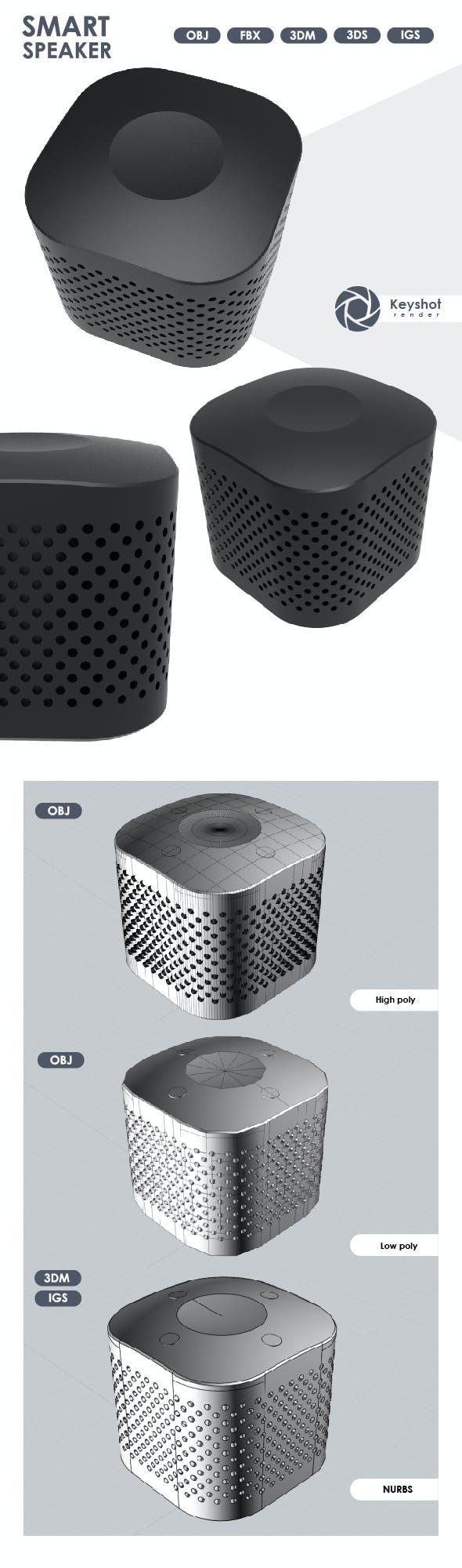 3D Model of Smart Speaker. - 3DOcean Item for Sale
