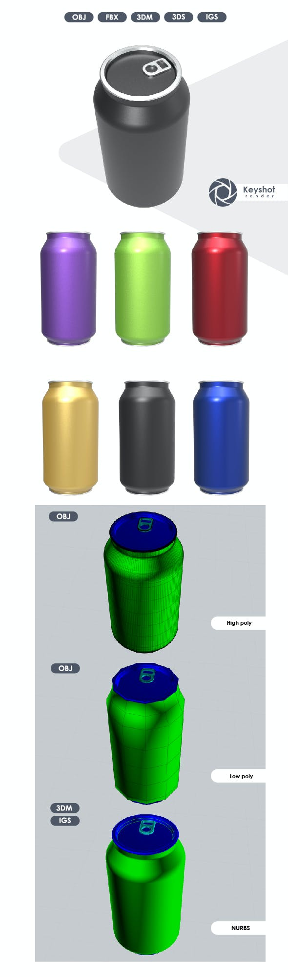 3D Model of Jar for Soda. - 3DOcean Item for Sale