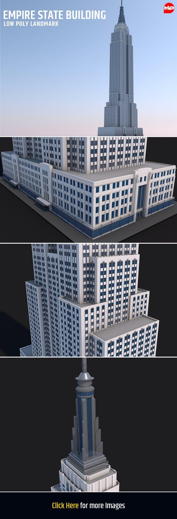 Empire State Building Landmark - 3DOcean Item for Sale