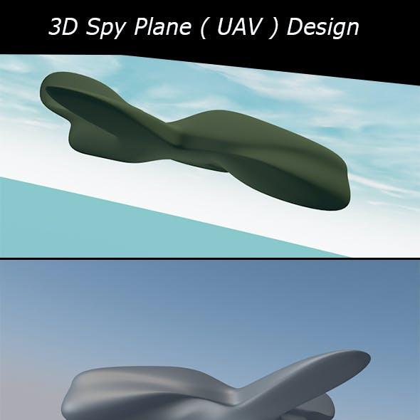 Spy Plane ( UAV ) 3D Exterior Design