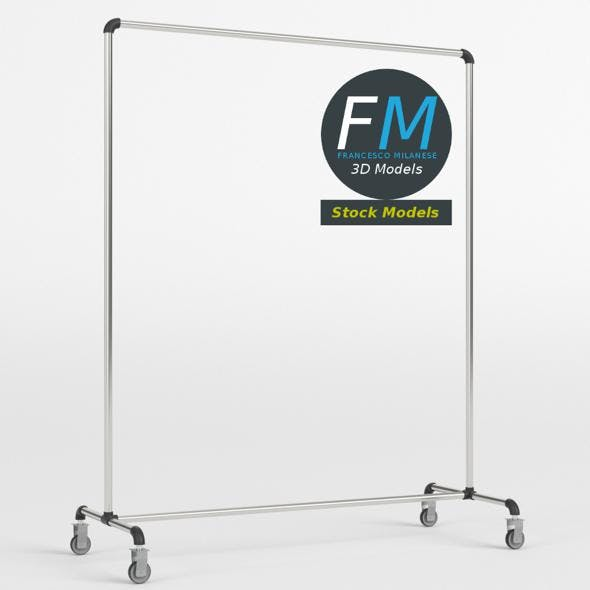 Single bar clothing rack