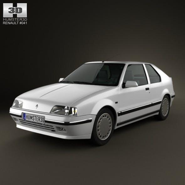 Renault 19 3-door hatchback 1988 - 3DOcean Item for Sale