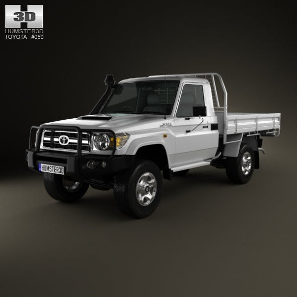 Toyota Land Cruiser (J70) Cab Chassis GXL 2008 - 3DOcean Item for Sale