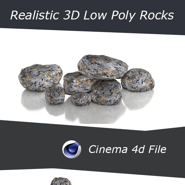 Realistic Low Poly 3D PBR Rocks