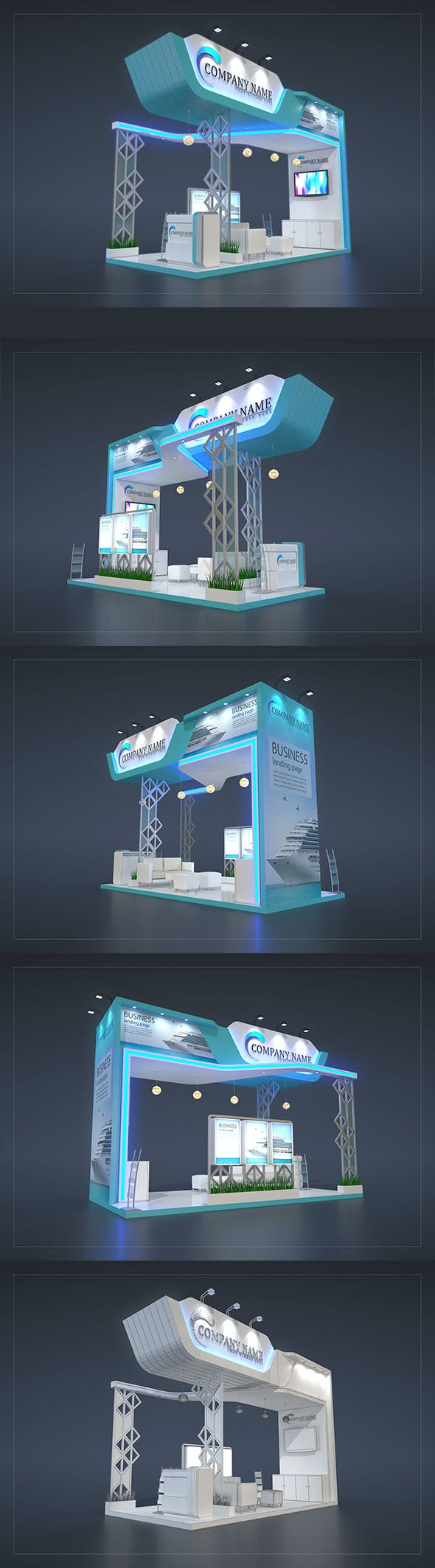 EXHIBITION STAND PR - 3DOcean Item for Sale