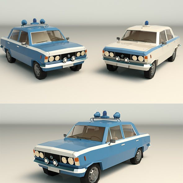 Low Poly Police Car 05