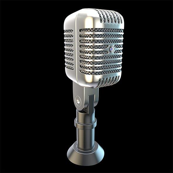 Shure Microphone Element 3D & C4D