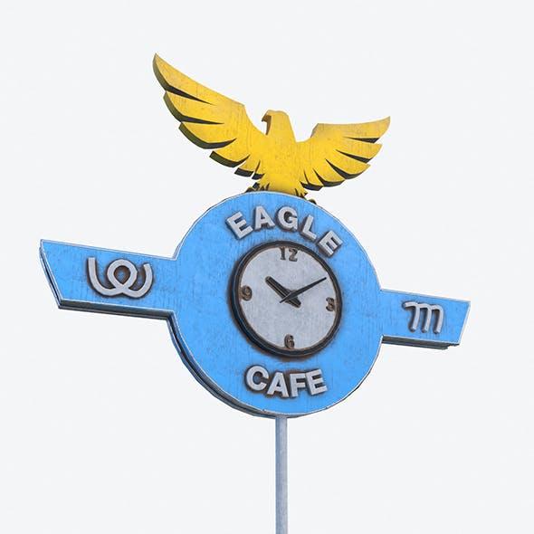 Eagle Cafe Motorway Sign