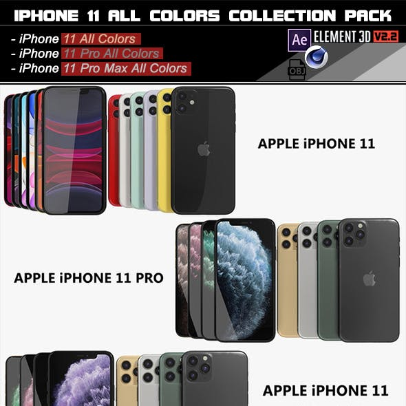 Element 3D iPhone 11/ 11 pro/ 11 pro Max All Colors