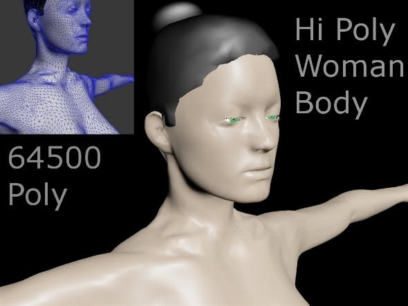 Hi Poly Woman Body - 3DOcean Item for Sale