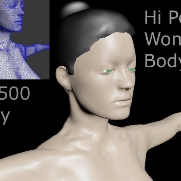 Hi Poly Woman Body