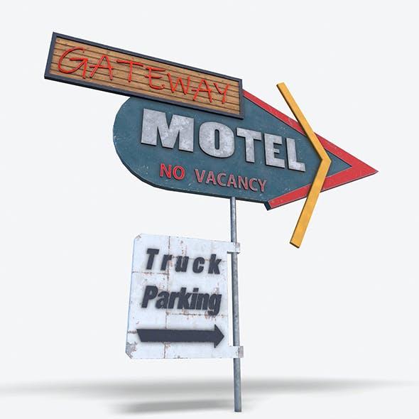 Motel Sign PBR